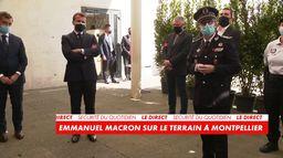 Emmanuel Macron sur le terrain à Montpellier