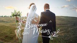Bienvenue aux mariés