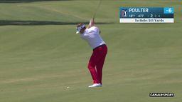 Quelques coups du co leader Ian Poulter lors du 1er tour : RBC Heritage PGA Tour