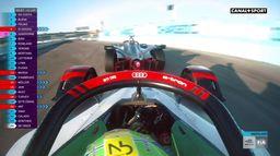 Dépassement de Lucas di Grassi sur Robin Frijns. : Formule E