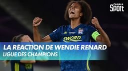 La joie de Wendie Renard après Lyon - Wolfsbourg : UEFA Women's Champions League