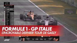 Revivez l'incroyable dernier tour de Pierre Gasly : Grand Prix d'Italie