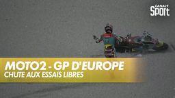 Chute de Sam Lowes : Grand Prix d'Europe