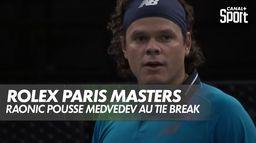Raonic pousse Medvedev au tie break ! : Medvedev / Raonic - Demi-Finale du Rolex Paris Masters