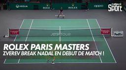 Zverev break Nadal dès le début du match ! : Nadal / Zverev - Demi-Finale du Rolex Paris Masters
