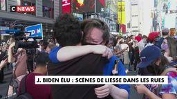 Les réactions des Américains dans les rues après la victoire de Joe Biden