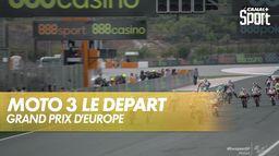 Le départ de la course : Grand Prix d'Europe  Moto 3