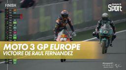 Victoire de Raúl Fernández : Grand Prix d'Europe Moto 3