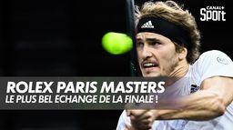 Le superbe échange entre Zverev et Medvedev ! : Finale du Rolex Paris Masters