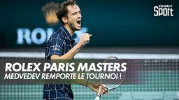 Daniil Medvedev remporte le Rolex Paris Masters ! : Finale du Rolex Paris Masters