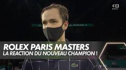 La réaction du nouveau champion de Bercy Daniil Medvedev : Finale du Rolex Paris Masters
