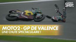 Sam Lowes heurté par sa propre moto ! : Grand Prix de Valence