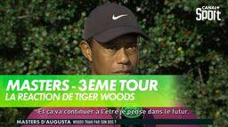 La réaction de Tiger Woods à l'issue du 3ème tour : Masters