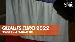 France - Royaume-Uni : les hymnes : Eliminatoires Euro 2022 masculin
