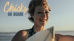 Chicks on boards surf...