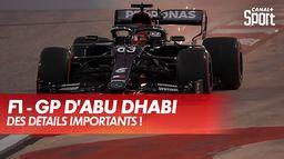 Les différences aérodynamiques des ailerons avant ! : Grand Prix d'Abu Dhabi