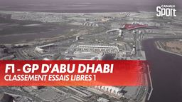 Max Verstappen premier en FP1 : Grand Prix d'Abu Dhabi