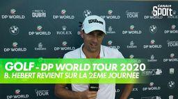 La réaction de Benjamin Hébert après la 2ème journée : DP World Tour 2020