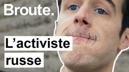Portrait d'un activiste russe réfugié en France