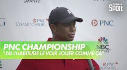 """T.Woods : """"J'ai l'habitude de le voir jouer comme ça"""" : PNC Championship"""