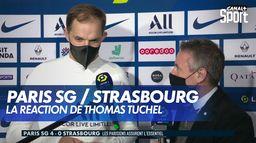 La réaction de Thomas Tuchel après Paris SG / Strasbourg : Ligue 1 Uber Eats, 17ème journée