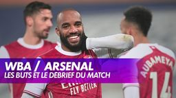 West Bromwich Albion / Arsenal : les buts du match : Premier League, 17ème journée