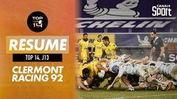 Le résumé de Clermont - Racing 92 : Top 14