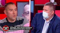 """Selon Antonio, le vaccin est une """"mascarade et un business"""""""