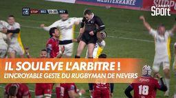 Le rugbyman Josaia Raisuqe soulève l'arbitre ! : PRO D2 - Rugby