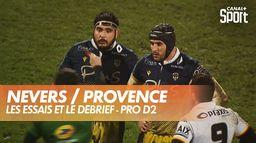 Les essais et le débrief de Nevers / Provence : Pro D2