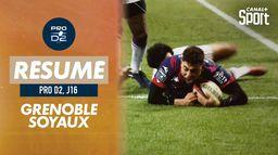 Le résumé de Grenoble / Soyaux Angoulême : Pro D2