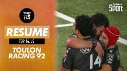Le résumé de Toulon / Racing 92 : Top 14