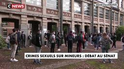 Crimes sexuels sur mineurs : débat au Sénat