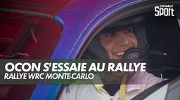 Esteban Ocon aux commandes d'un bolide de Rallye : Rallye WRC Monte-Carlo