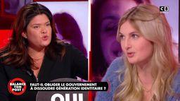 """Raquel Garrido s'adressant à Thaïs d'Escufon : """"Vous mettez des gens en péril de mort"""""""