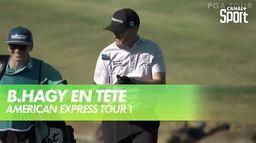 B.Hagy en tête après un tour : PGA Tour - American Express