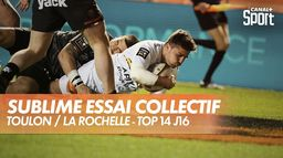 Magnifique essai de la Rochelle : Toulon / La Rochelle - Top 14 J16