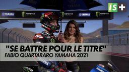 """F.Quartararo : """"Nous voulons nous battre pour le titre"""" : MotoGP - Yamaha"""