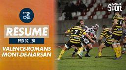 Le résumé de Valence-Romans / Mont-de-Marsan : PRO D2