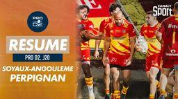 Le résumé de Soyaux-Angoulême / Perpignan : PRO D2