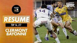 Le résumé de Clermont / Bayonne : TOP 14