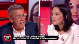 Jean-Michel Cohen, nutritionniste, face à la porte-parole du parti animaliste