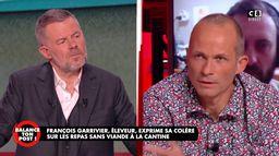 François Garrivier, éleveur, exprime sa colère sur les repas sans viande à la cantine