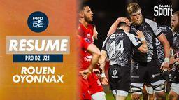 Le résumé de Rouen / Oyonnax : PRO D2