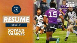 Le résumé de Soyaux-Angoulême / Vannes : PRO D2