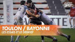Les essais et le débrief de Toulon / Bayonne : TOP 14