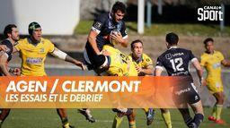 Les essais et le débrief d'Agen / Clermont : TOP 14