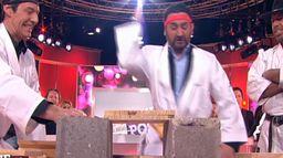 Jean-Luc Reichmann casse des planchettes avec Cyril Hanouna et Chuck Norris dans TPMP