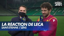 La satisfaction de Jean-Louis Leca après Saint-Étienne / Lens : Ligue 1 Uber Eats