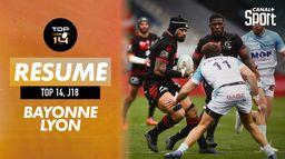 Le résumé de Bayonne / Lyon : Canal Rugby Club